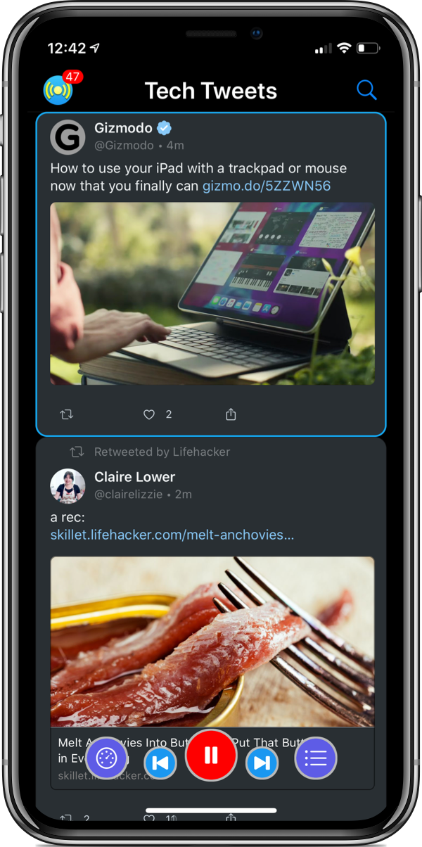 Social Speaker Twitter Client support screenshot
